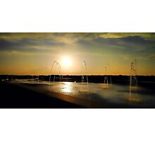 Sunset Sprinklers Photographic Print