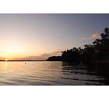 Golden Lake Sunset Photographic Print