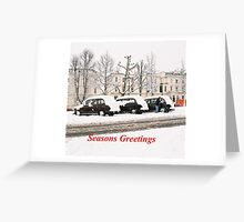 Black Cabs of London Greeting Card
