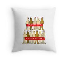 Wishing you a speedy recovery naked men in medical hats. Throw Pillow