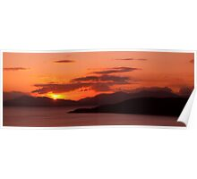 Sunset Over Isle of Mull Poster