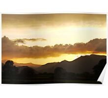 October Sunset In The Lakes Poster