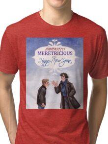 And a Happy New Year - BBC Sherlock Tri-blend T-Shirt