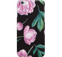 Seamless watercolor peony pattern   iPhone Case/Skin