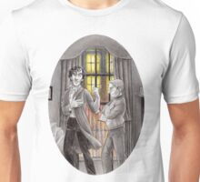"Life is Infinitely Stranger"" - Sherlock and John - 221B version #  Unisex T-Shirt"