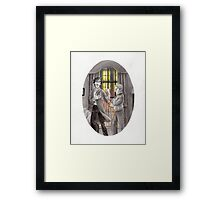 "Life is Infinitely Stranger"" - Sherlock and John - 221B version #  Framed Print"