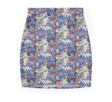 Pig Pen - Red White & Blue - Design 2 Pencil Skirt