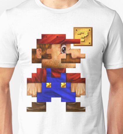 8-Bit Mario Realistic Unisex T-Shirt