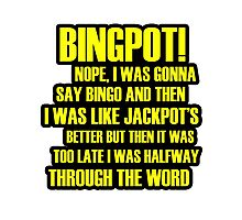 Binpot! Photographic Print