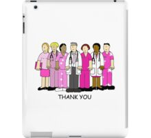 Thank you to breast cancer team, nurses and Doctors iPad Case/Skin