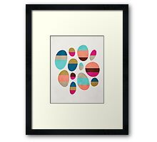 Color-Blocked Pebbles #1 Framed Print
