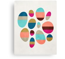 Color-Blocked Pebbles #1 Canvas Print