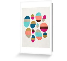 Color-Blocked Pebbles #1 Greeting Card