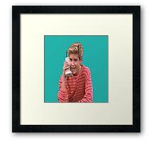 Zack Morris Saved By the Bell 90's Design Framed Print