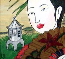 Geisha Fan by DarkRubyMoon