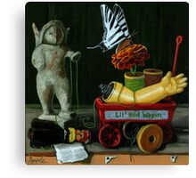 Li'l Red Wagon Canvas Print