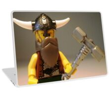 Thor Minifig Viking Custom Minifigure with Custom Beard  Laptop Skin