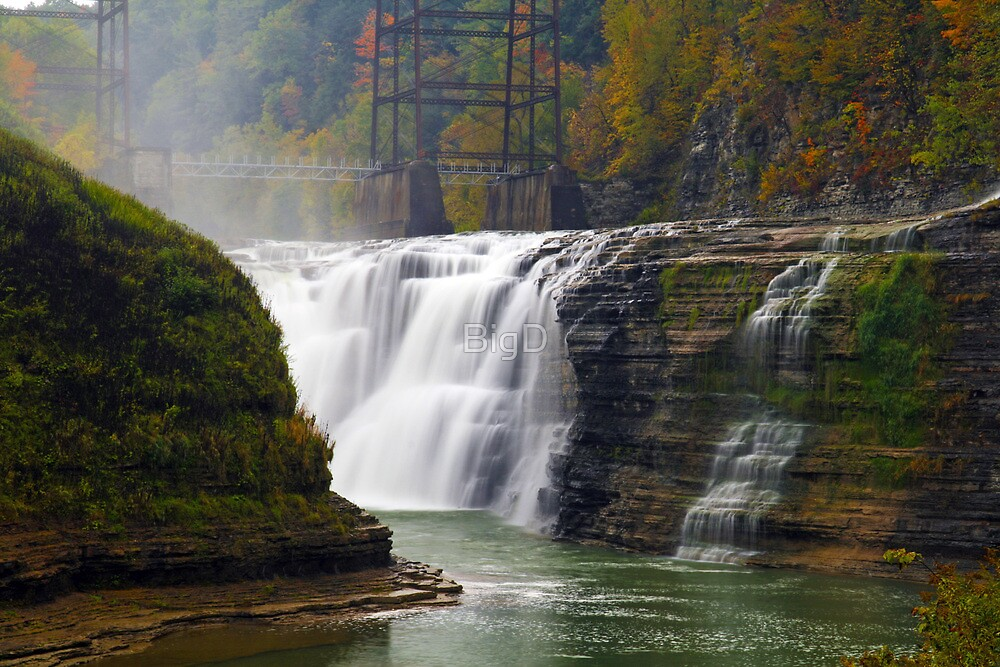 Upper Waterfalls-Letchworth State Park by BigD