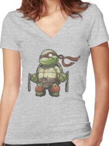 MIKE Women's Fitted V-Neck T-Shirt