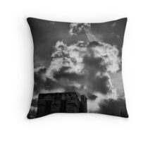 Defending the city Throw Pillow