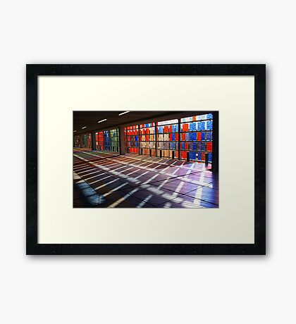 Coloured Shadows Framed Print