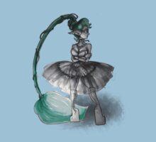 Rainbow Punk: Tirquoise Steam One Piece - Short Sleeve