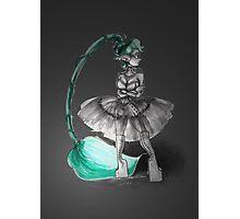 Rainbow Punk: Tirquoise Steam Photographic Print