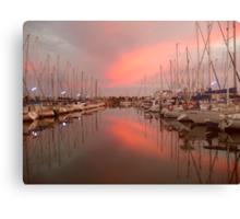 Sunrise at North Haven Marina, South Australia. Canvas Print