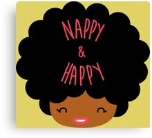 Happy Nappy Afro Canvas Print