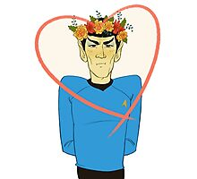 First Officer Spock Valentine Photographic Print