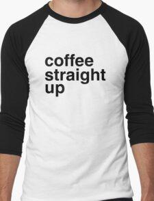 Coffee straight up Men's Baseball ¾ T-Shirt