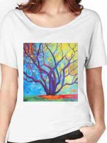 Bright Purple Tree Women's Relaxed Fit T-Shirt