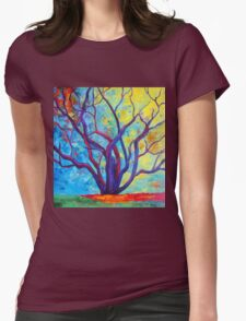 Bright Purple Tree Womens Fitted T-Shirt