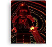 TMNT Teenage Mutant Ninja Turtles Master Shredder Custom Minifig Canvas Print