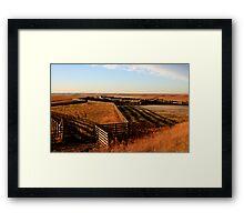 Flint Hills, KS Framed Print