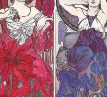Alphonse Mucha, re-drawn, re-painted, re-mastered  Sticker