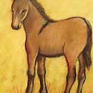 Young Mule Primitive Modern Painting by carolsuzanne
