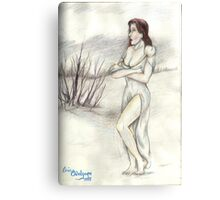 Snow White or Ice Princess  Canvas Print