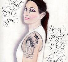 Inspirational quote for women calligraphy art by Melissa Goza