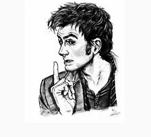 """The Doctor - David Tennant - """"Fingers on Lips!"""" Unisex T-Shirt"""