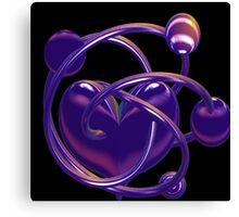 Atom Heart Canvas Print