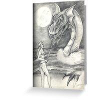Dragon On Subconcious Shores Greeting Card