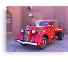 Red Oldtimer Truck Canvas Print