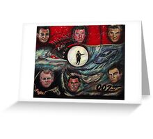 The Many Faces of Bond...James Bond Greeting Card