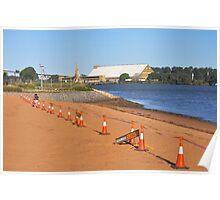 Brisbane River Beach Closed Poster