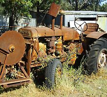 OLIVER TRACTOR WITH SAW by Helen Akerstrom Photography