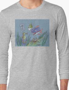 Happy marine friends Long Sleeve T-Shirt