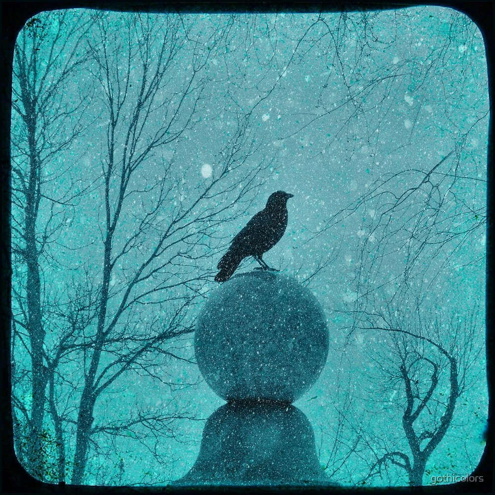 Blue Gothic Snow Globe by gothicolors