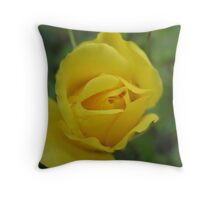 Uncompromising Yellow Rose Throw Pillow