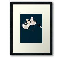 KISSING SHERLOCK AND JOHN / teal Framed Print